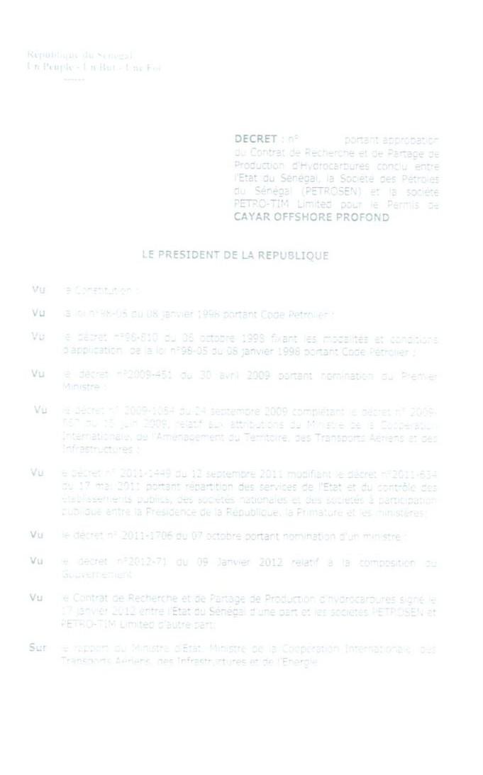 Exclusif : les documents PETROSEN/PETROTIM, les décrets signés par Abdoulaye Wade et Macky Sall