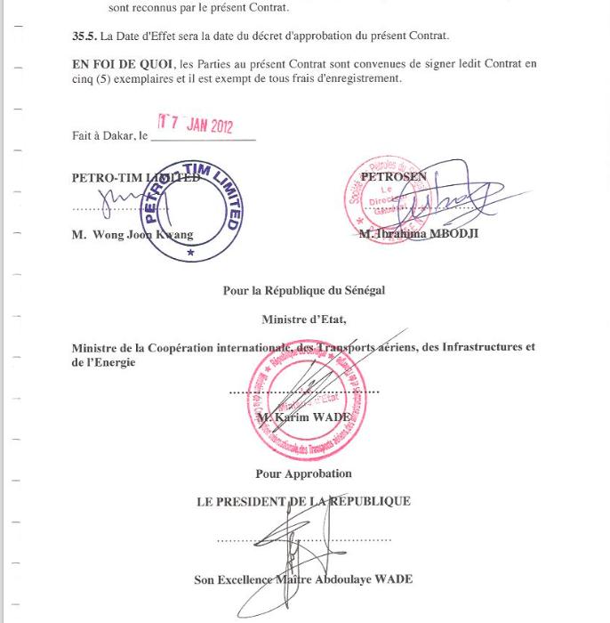 Confidentiel : Leral.net vous sert en exclusivité l'intégralité des contrats pétroliers signés par le Sénégal