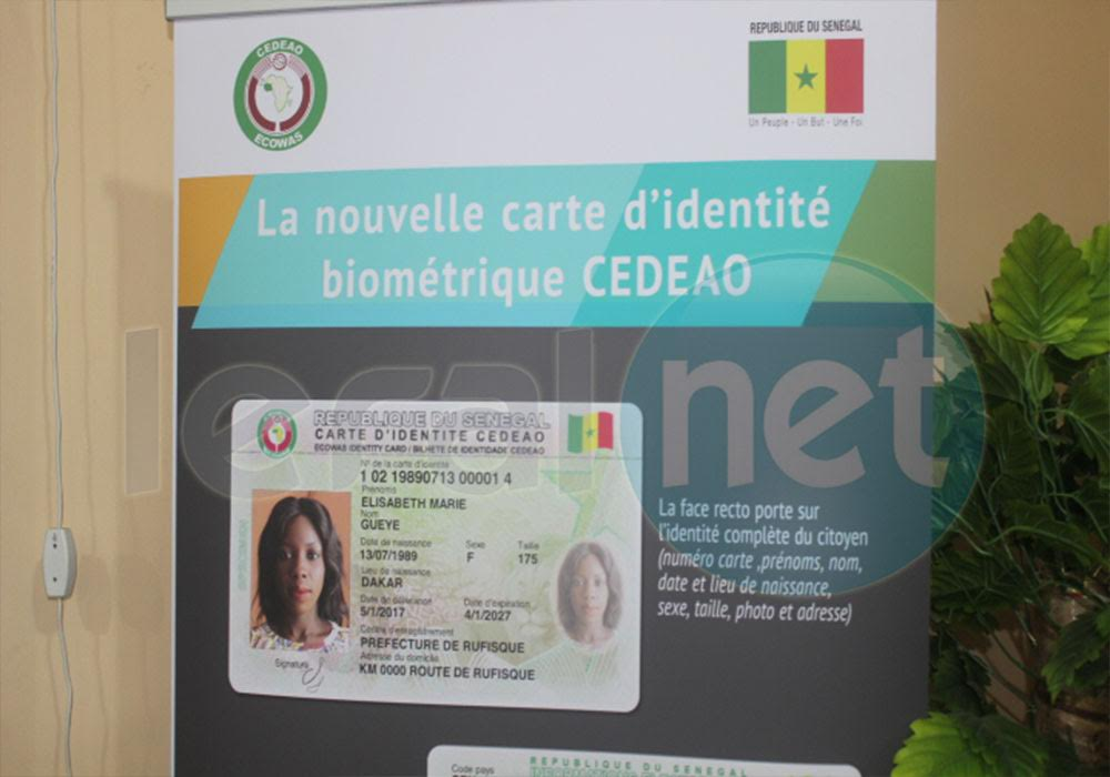 Attribution de la nouvelle carte d'identité biométrique CEDEAO, le  lancement prévu  le  04 octobre prochain …