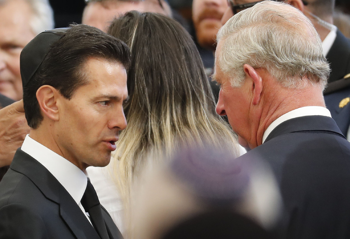 Le président mexicain Enrique Peña Nieto et le Prince Charles
