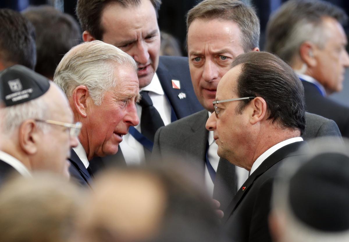 François Hollande et le Prince Charles