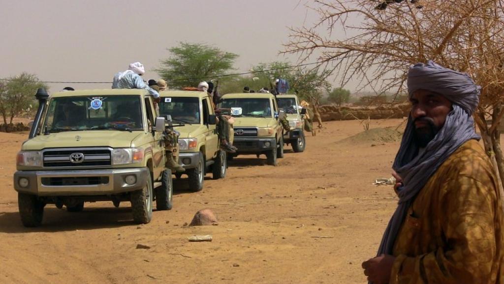 Membres d'un groupe armé à Kidal, le 13 juillet 2016. © AFP/SOULEYMANE AG ANARA