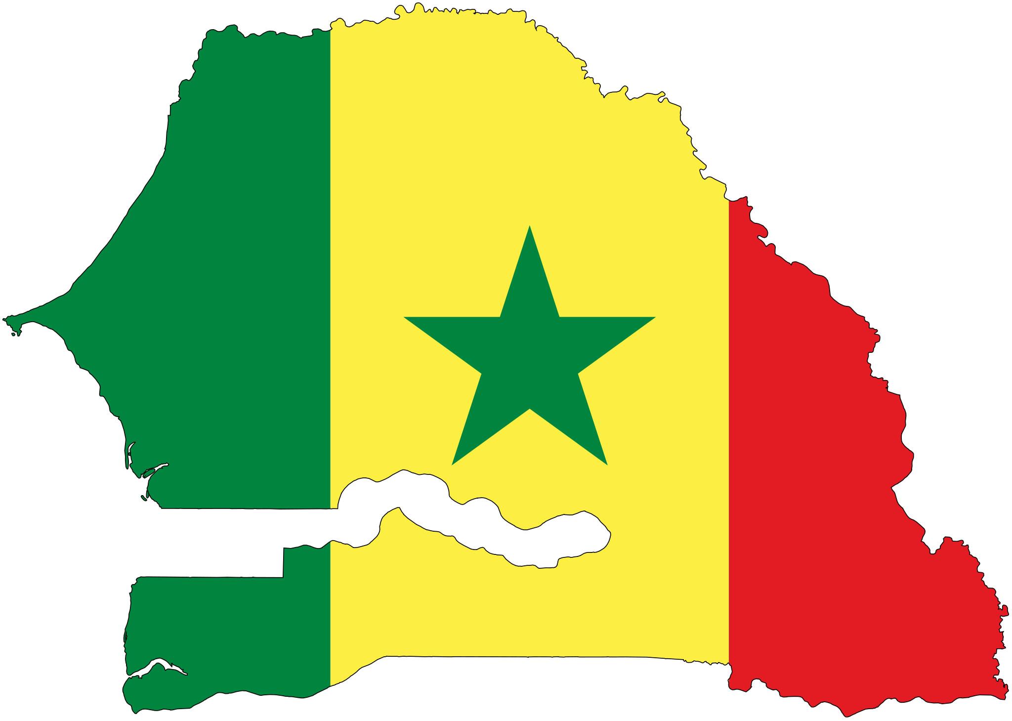 La carte de la République du Sénégal