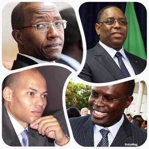 Abdoul Mbaye (ACT), Macky Sall (APR), Karim Wade (PDS), Khalifa Sall (PD), de potentiels candidats à la ¨Présidentielle de 2019...