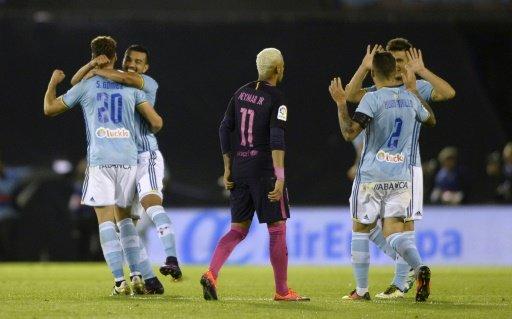 Le Barça de Neymar battu par le Celta Vigo au stade Balaidos, le 2 octobre 2016