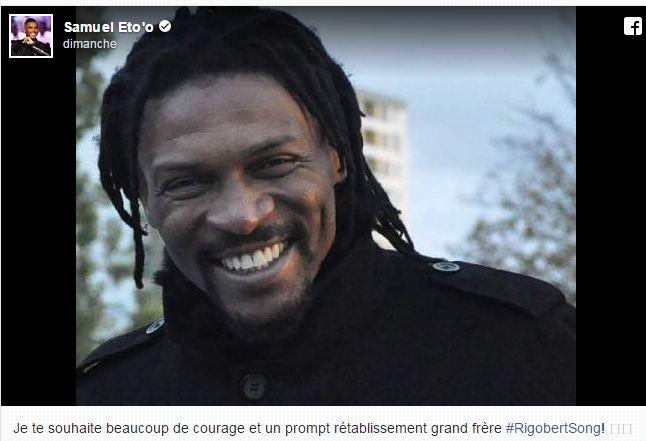 Le message touchant de Samuel Eto'o qui soutient Rigobert Song victime d'un AVC