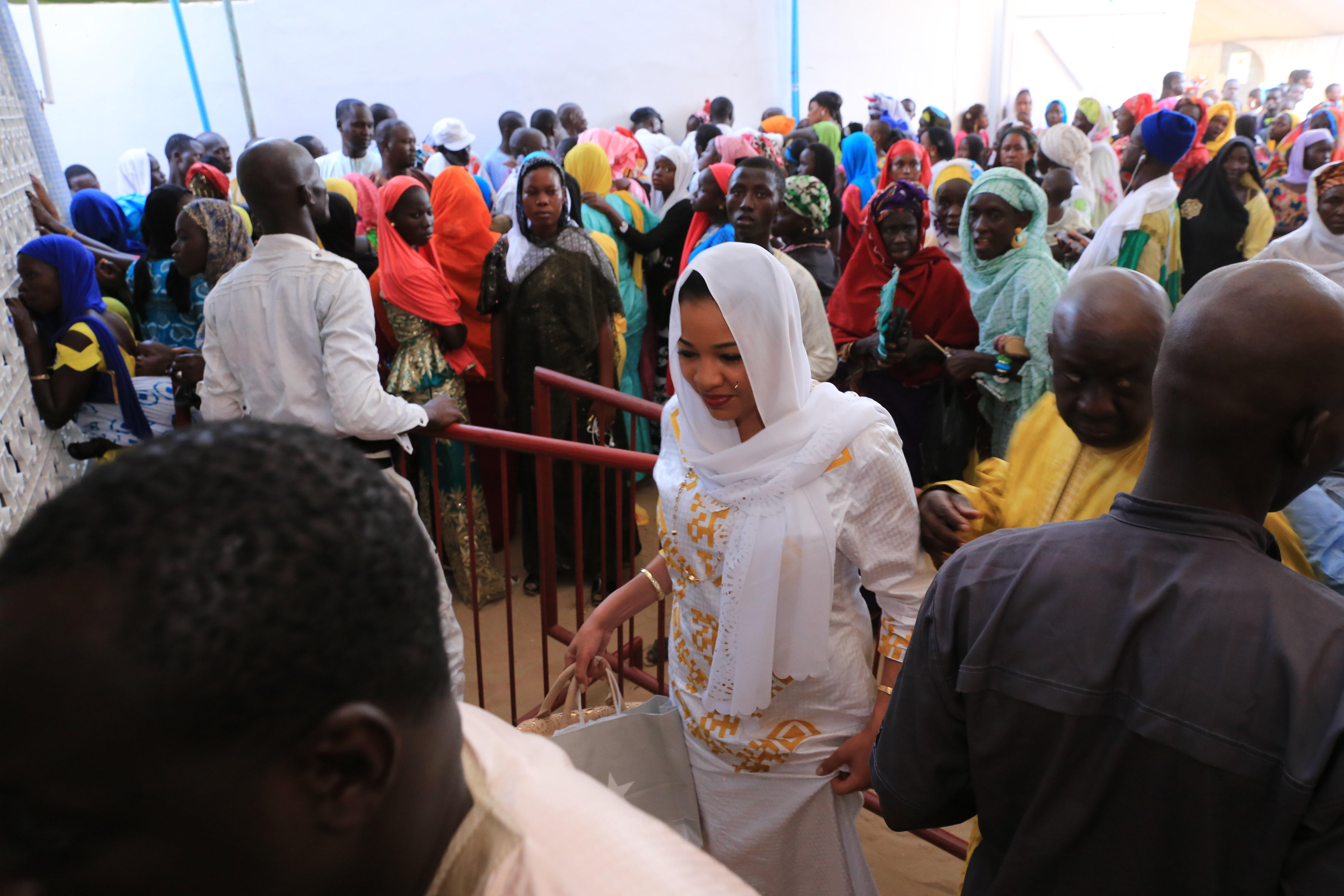 Léna Sène était Touba pour célébrer le Magal de Serigne Abdou Khadre Mbacké.