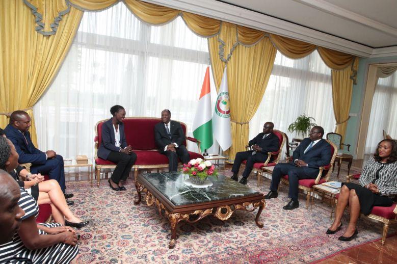 Rama Yade a été reçue en audience par le Président ivoirien, Alassane Ouattara