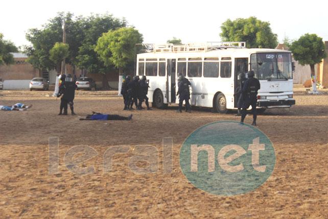 démonstration de libération d'otages