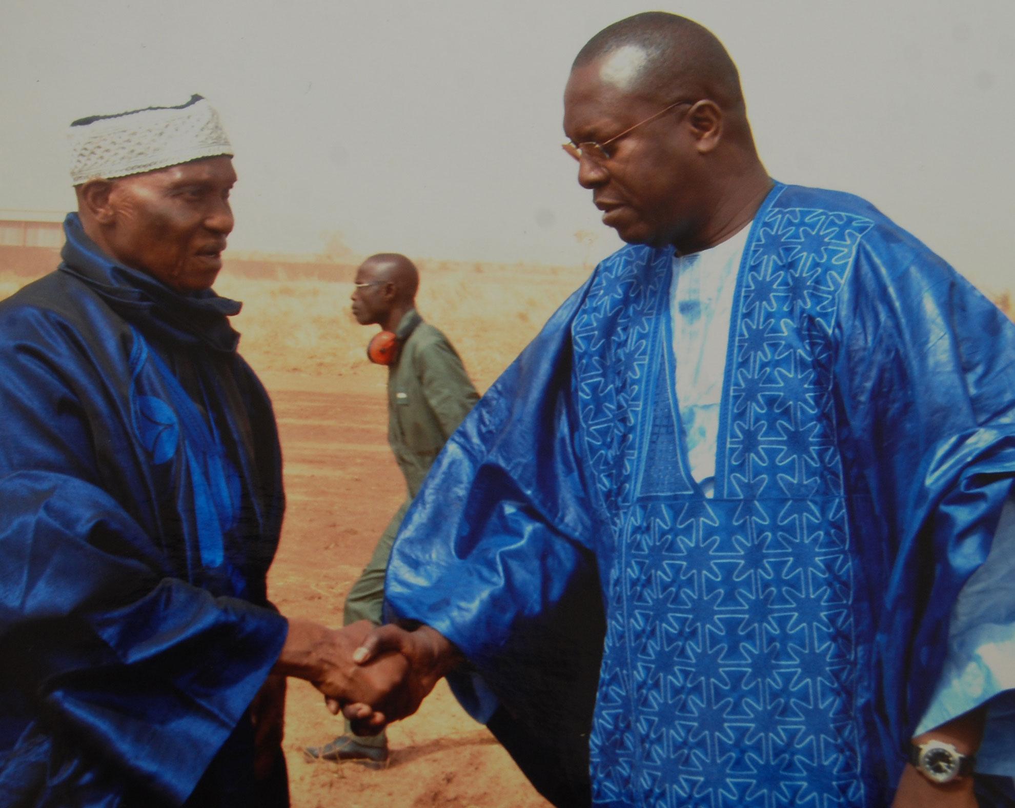 Me Abdoulaye Wade et son ex PM Souleymane Ndéné Ndiaye.