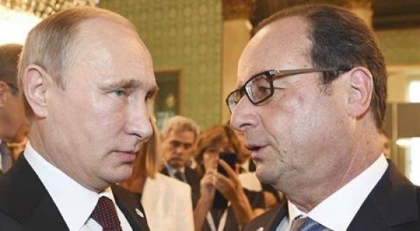 """Vive altercation entre Moscou et Paris: """"Si la France, la Grande Bretagne et les Etats Unis veulent la guerre, ils l'auront"""", déclare Poutine"""