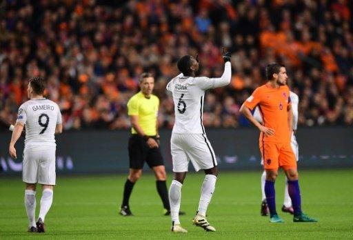 © AFP | Paul Pogba buteur pour l'équipe de France face aux Pays-Bas en qualifications du Mondial-2018 à Amsterdam, le 10 octobre 2016 PARIS (AFP) -