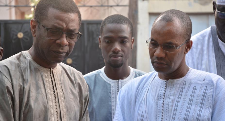 Youssou Ndour, son fils Birane et Mamadou Ibra Kane.
