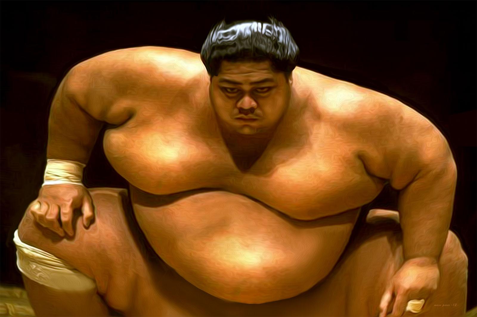 Les Sumotori ingèrent en moyenne 5 000 calories par jour.