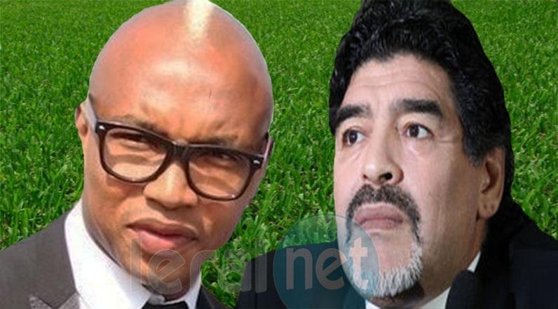 El Hadji Diouf et Maradona