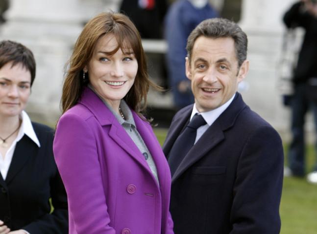 Carla Bruni et Nicola Sarkozi