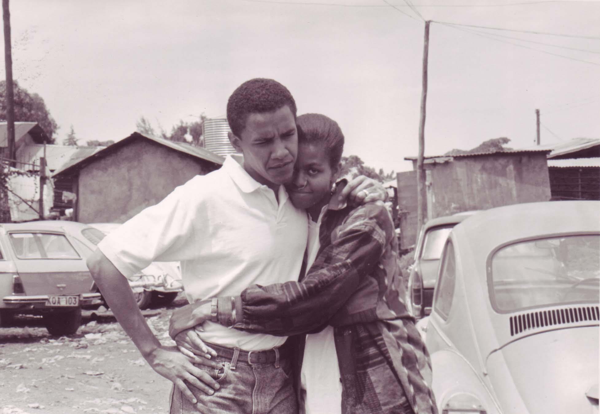 Barack Hussein et Michelle Obama