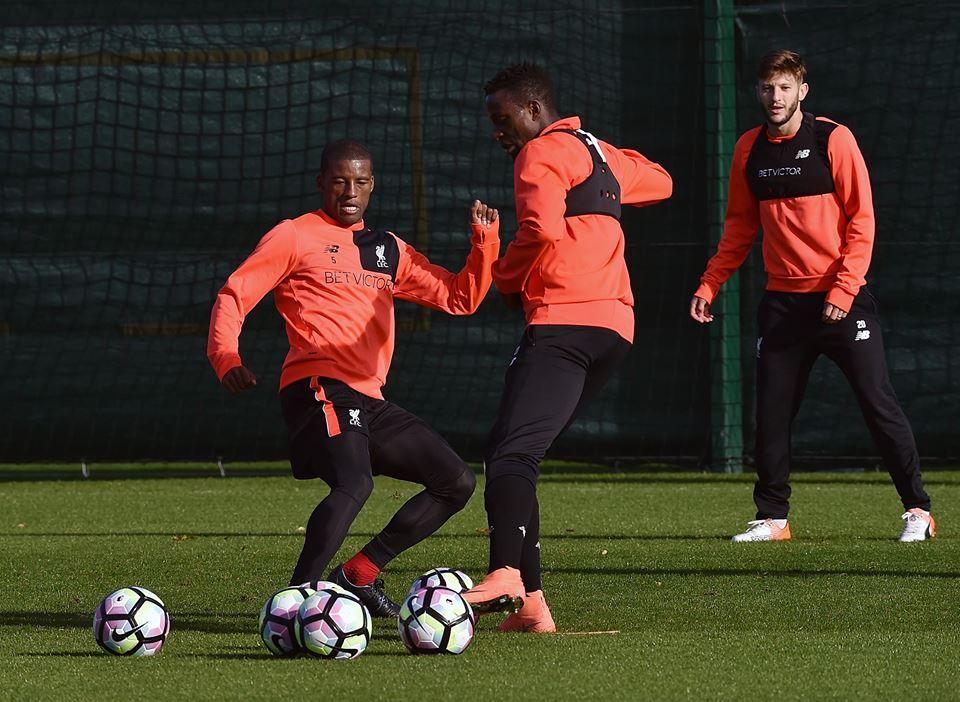 Liverpool : Sadio Mané, Coutinho, Lallana à l'entrainement à la salle de formation en préparatif du match contre West Bromwich le samedi prochain