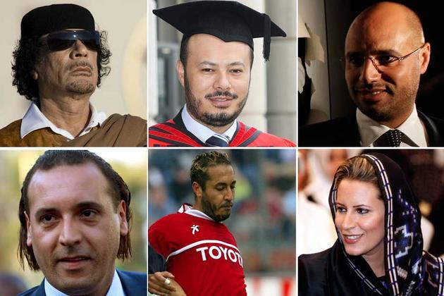 Libye: que sont devenus les enfants de Kadhafi, cinq ans après sa chute