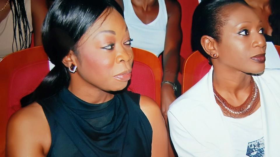Ngoné Ndour, nouvelle Présidente du Conseil d'Administration de la société des droits d'auteurs et des droits voisins ici avec sa sœur Aby Ndour.