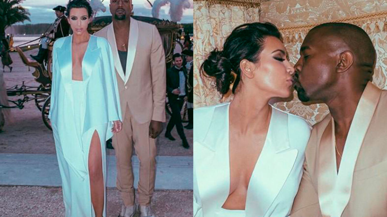 Mariage Kim Kardashian et Kanye West, un couple mixte très médiatisé.
