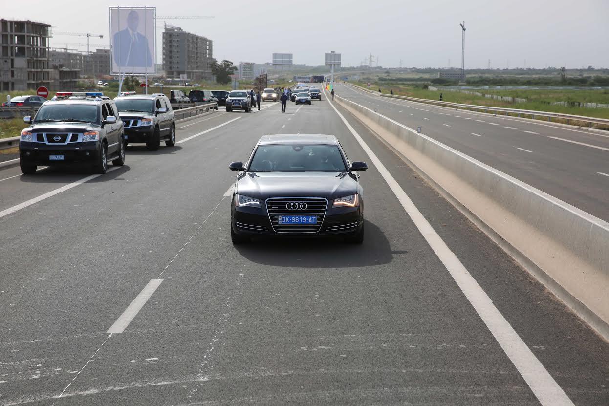 Inauguration de l'autoroute Diamniadio - AIBD - Sindia