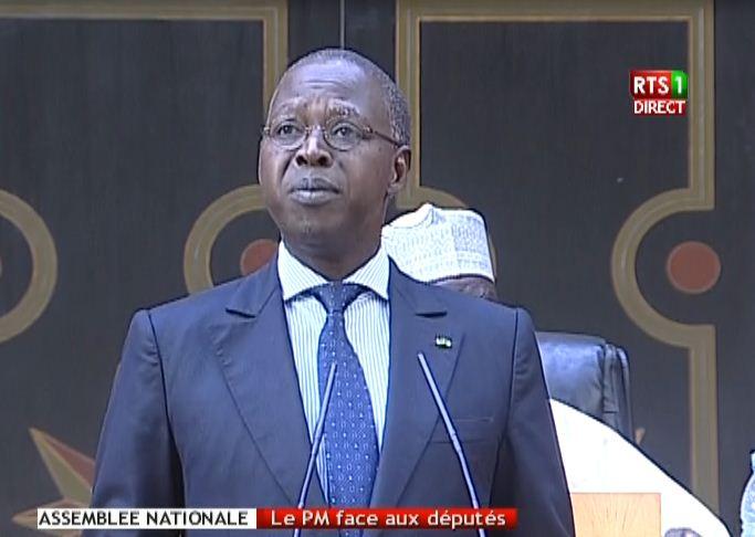 Le premier ministre, Mohamed Boun Abdallah Dione à l'Assemblée nationale le 27 octobre pour la séance plénière consacrée aux questions-réponse