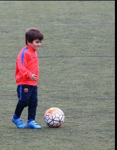 Premier entraînement pour Thiago Messi !