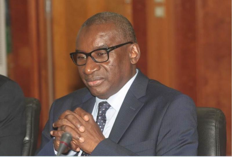 le ministre de la justice sidiki kaba