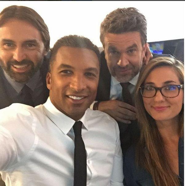 Habib Beye et ses collègues de canal+