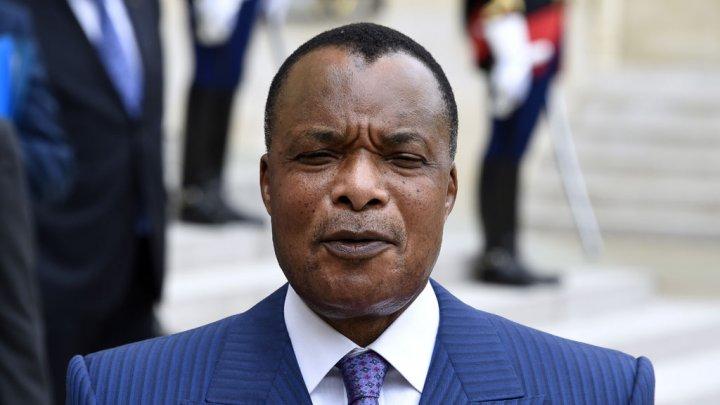 AFP | Le président congolais Denis Sassou Nguesso lors d'une conférence de presse à l'Elysée, le 7 juillet 2015.