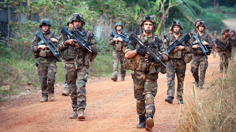 militaires français en patrouille en Centrafrique