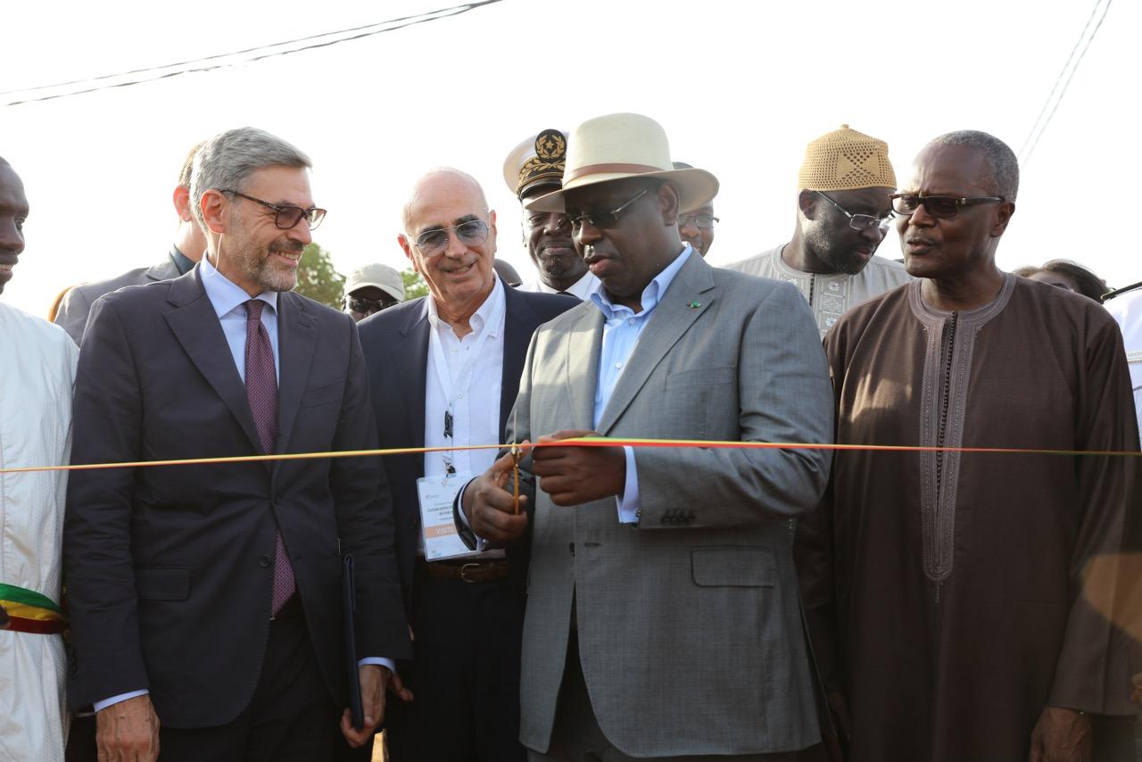 SE. Macky Sall à l'inauguration de la centrale de Malicounda