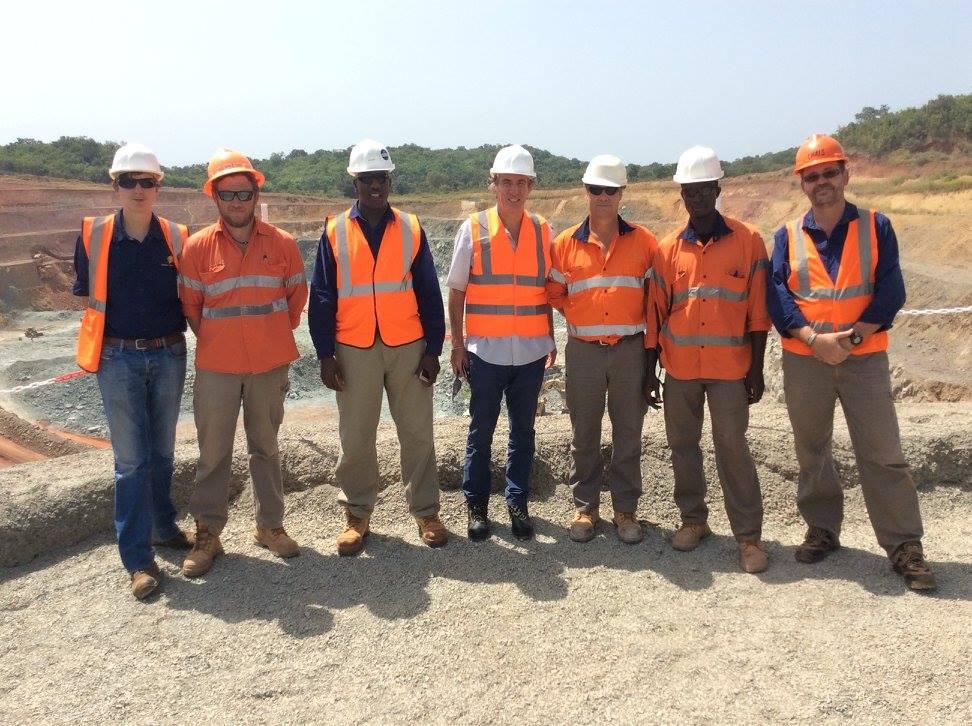 Visite de la mine d'or de Sabodala