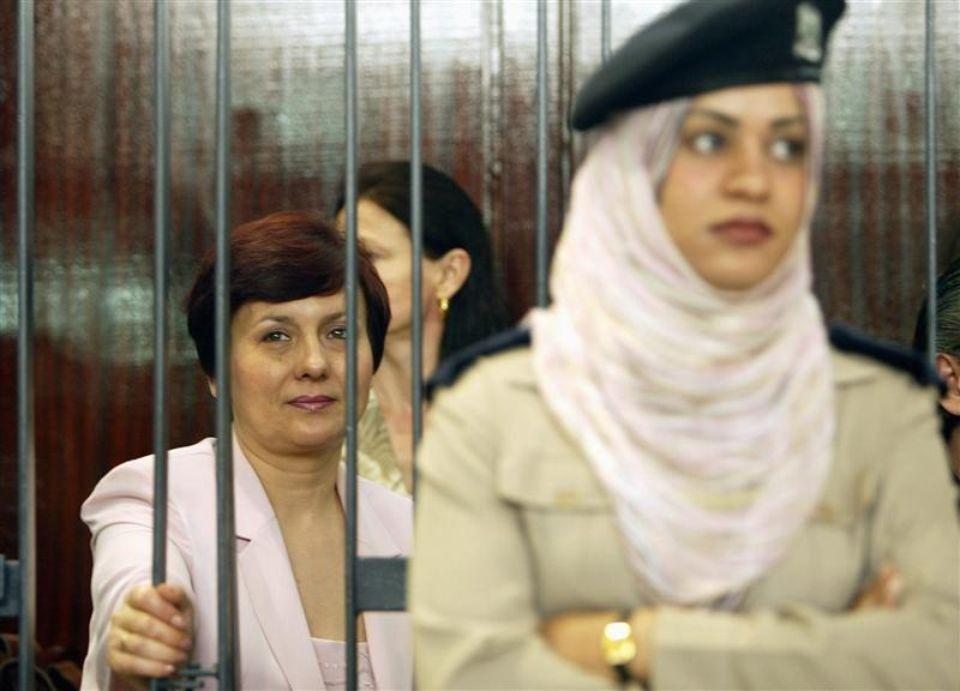 Une infirmière bulgare détenue à Tripoli en juin 2006.