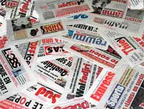 La une des quotidiens de ce samedi 5 novembre 2011: La grogne de l'Union des Magistrats en vedette