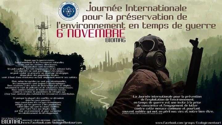 Le 6 novembre, Journée Internationale pour la préservation de l'environnement en temps de guerre