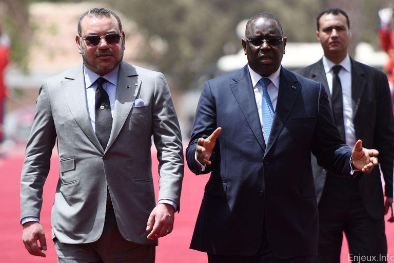 Le roi Mohammed VI et le  Président de la république Macky Sall