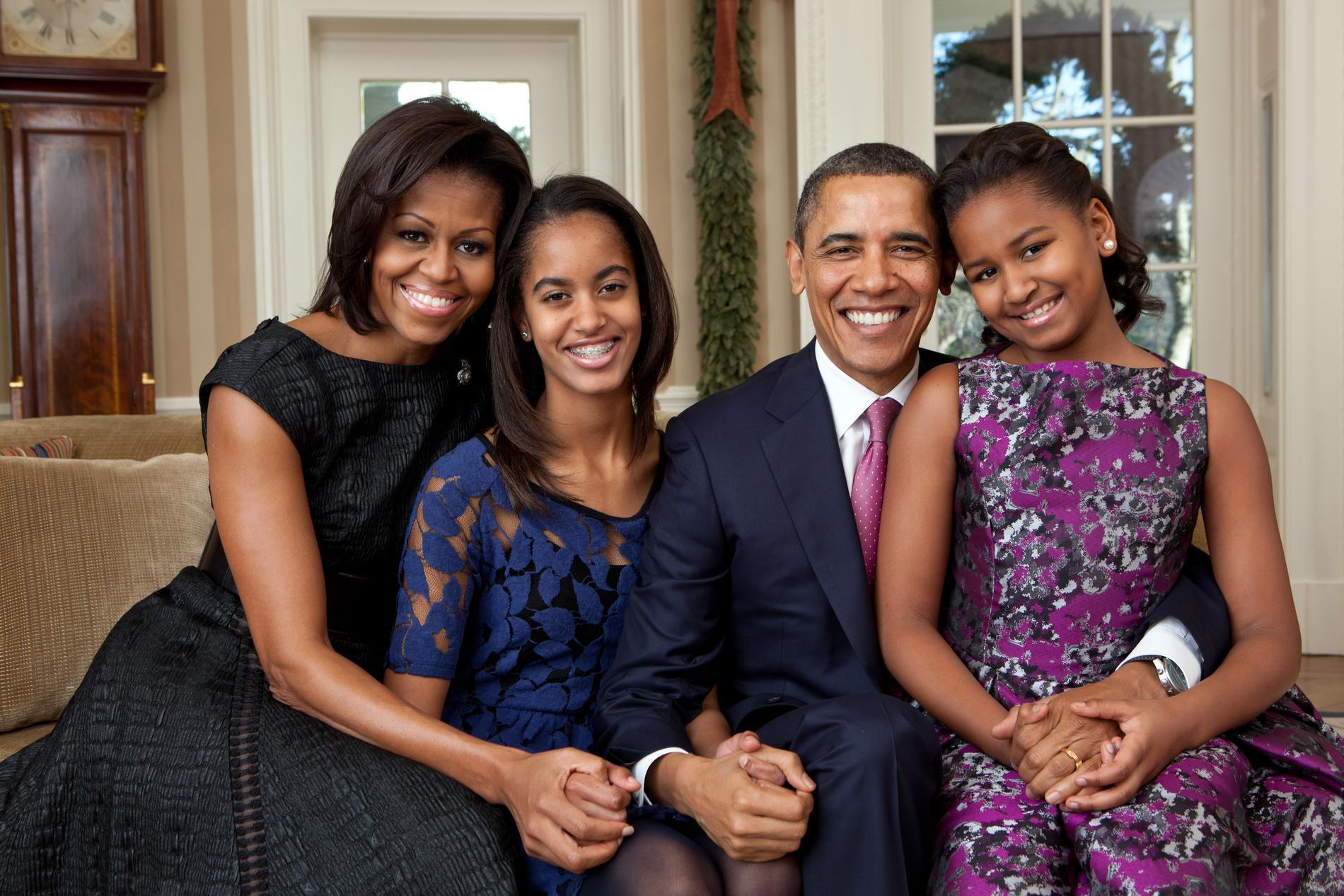 Barack Obama et Michelle Obama, 24 ans d'amour et de beaux enfants.