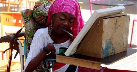 Portrait : qui était Yoni Rassoul Diongue, peintre tétraplégique!