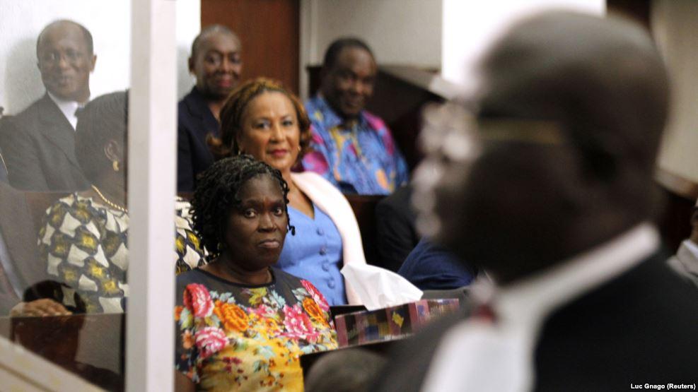 Simone Gbagbo, le premier jour de son procès le 26 décembre 2014 (Archives).