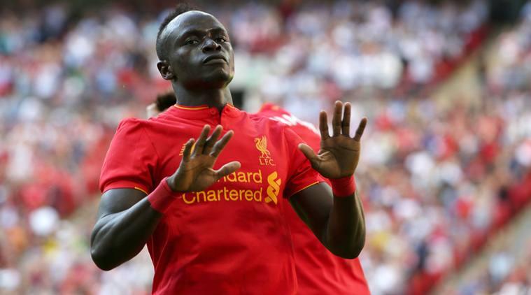 Sadio Mané lors d'un match de préparation pré saison avec Liverpool contre le FC Barcelone.