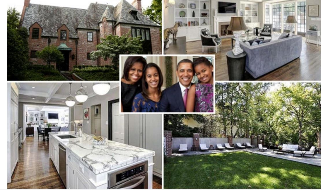 Photos regardez la belle maison o vont habiter barack for Barack obama maison blanche