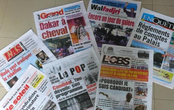 La une des journaux du vendredi 11 novembre 2016 Les quotidiens reviennent sur la probable levée de l'immunité parlementaire de Barthélémy Dias