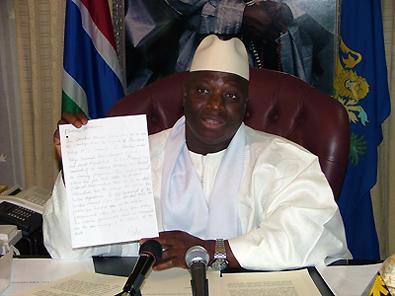 Présidentielle gambienne de décembre 2016: Les assurances de Jammeh