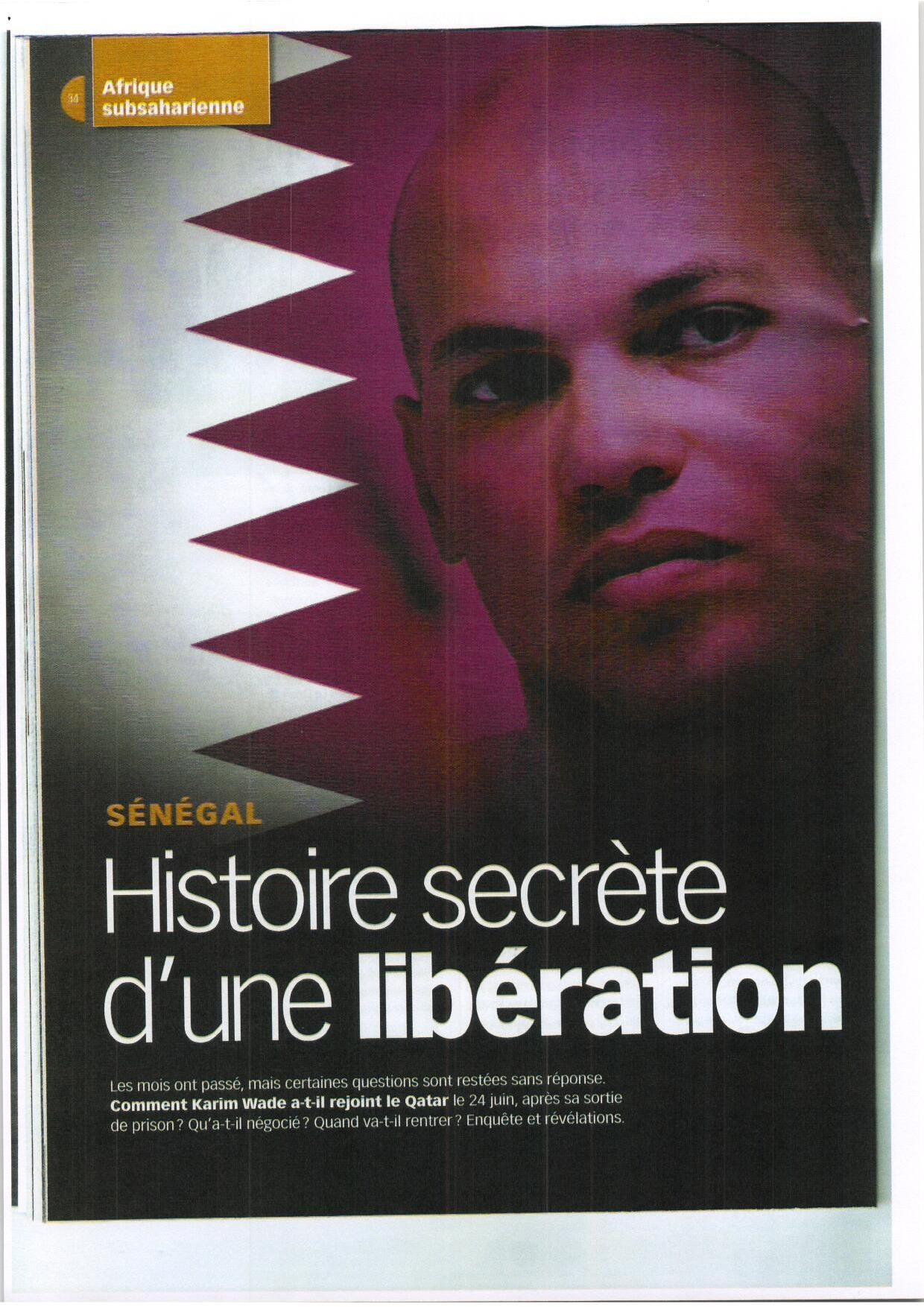 Enquête JA  : L'énigme Karim Wade ou l'histoire d'une libération secrète