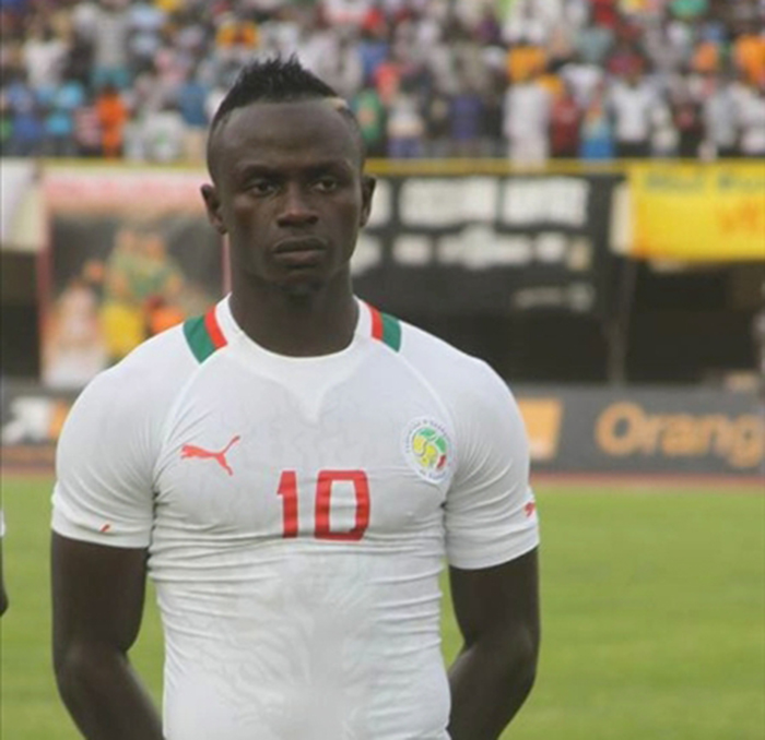 Sadio Mané, attaquant des Lions