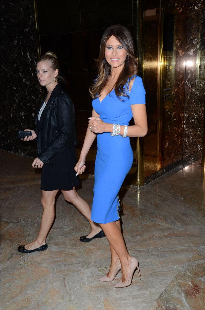 19 Photos : Melania Trump, la sublime First Lady, avec son regard de biche, regardez