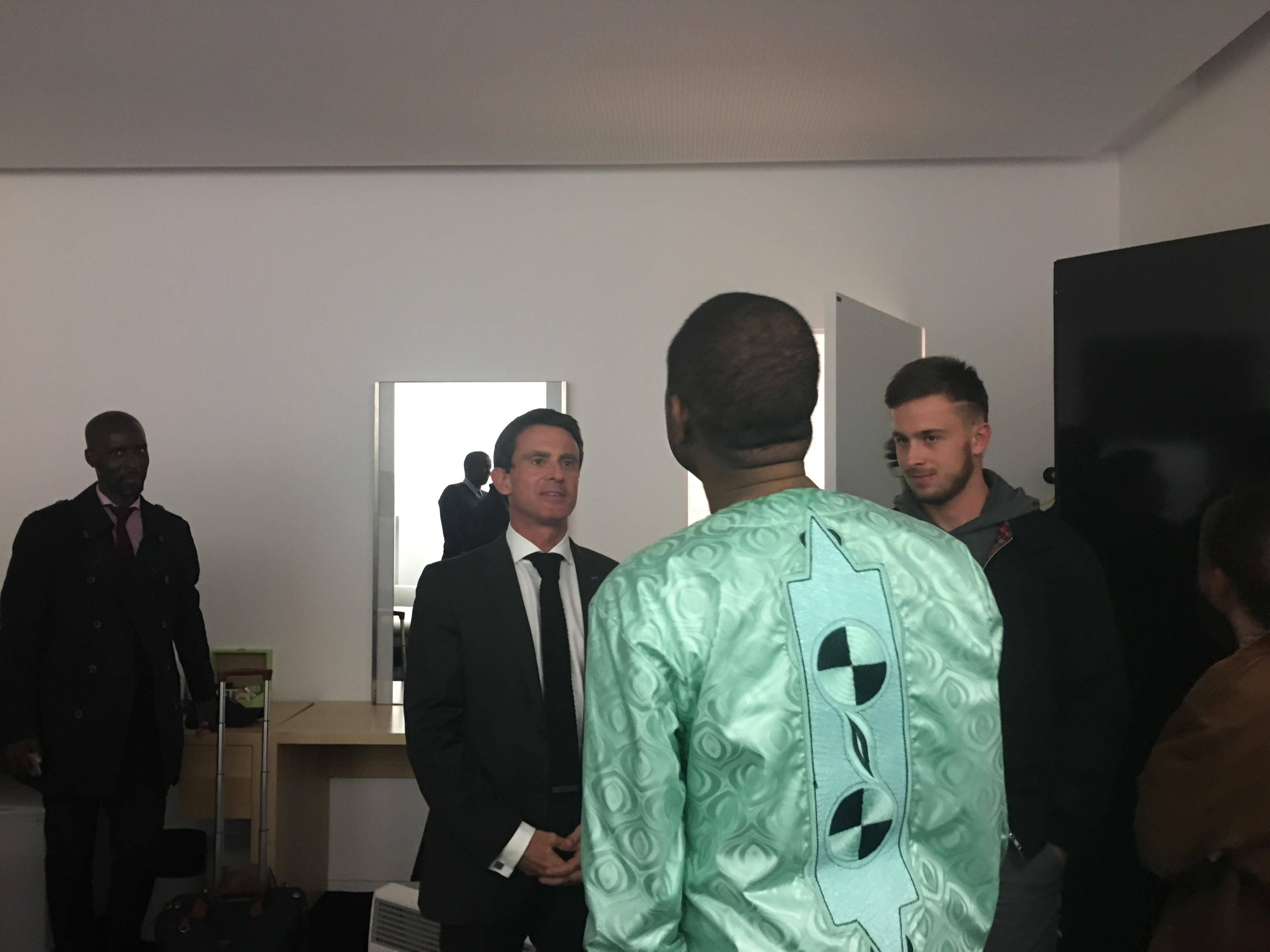 Manuel Valls et Youssou N'Dour