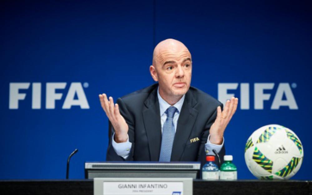 Le président de la FIFA Gianni Infantino,